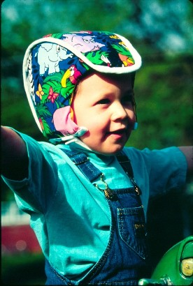Plum's® ProtectaCap® Custom-Fitting Protective Headgear for Kids in Kids Print